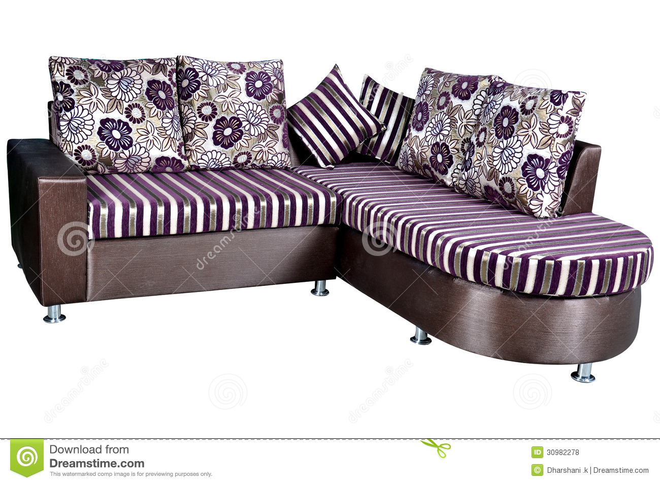 Sofa bed isolated on a white background.
