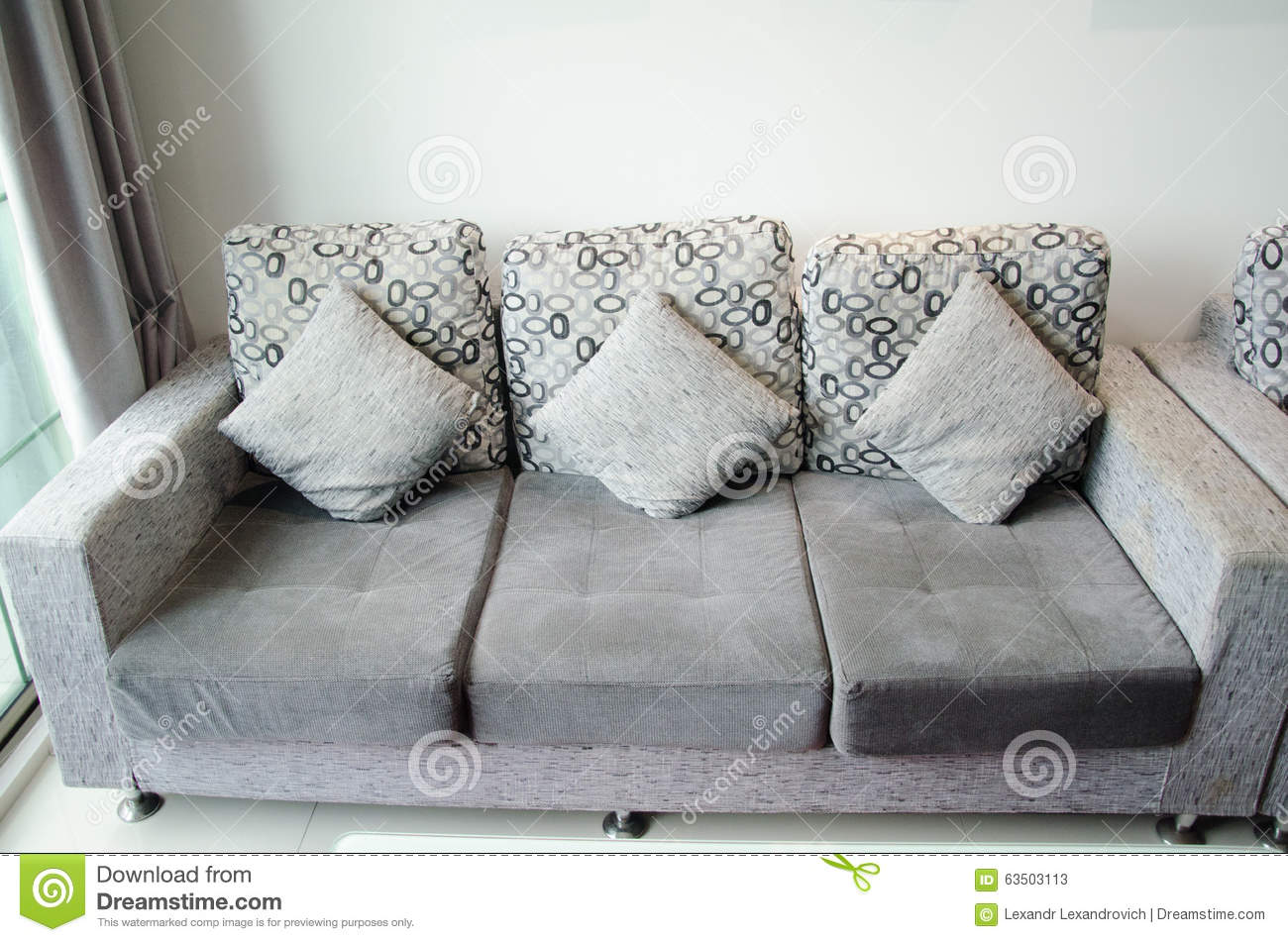 Sofa With Cushions In Living Room Stock Photo Image 63503113