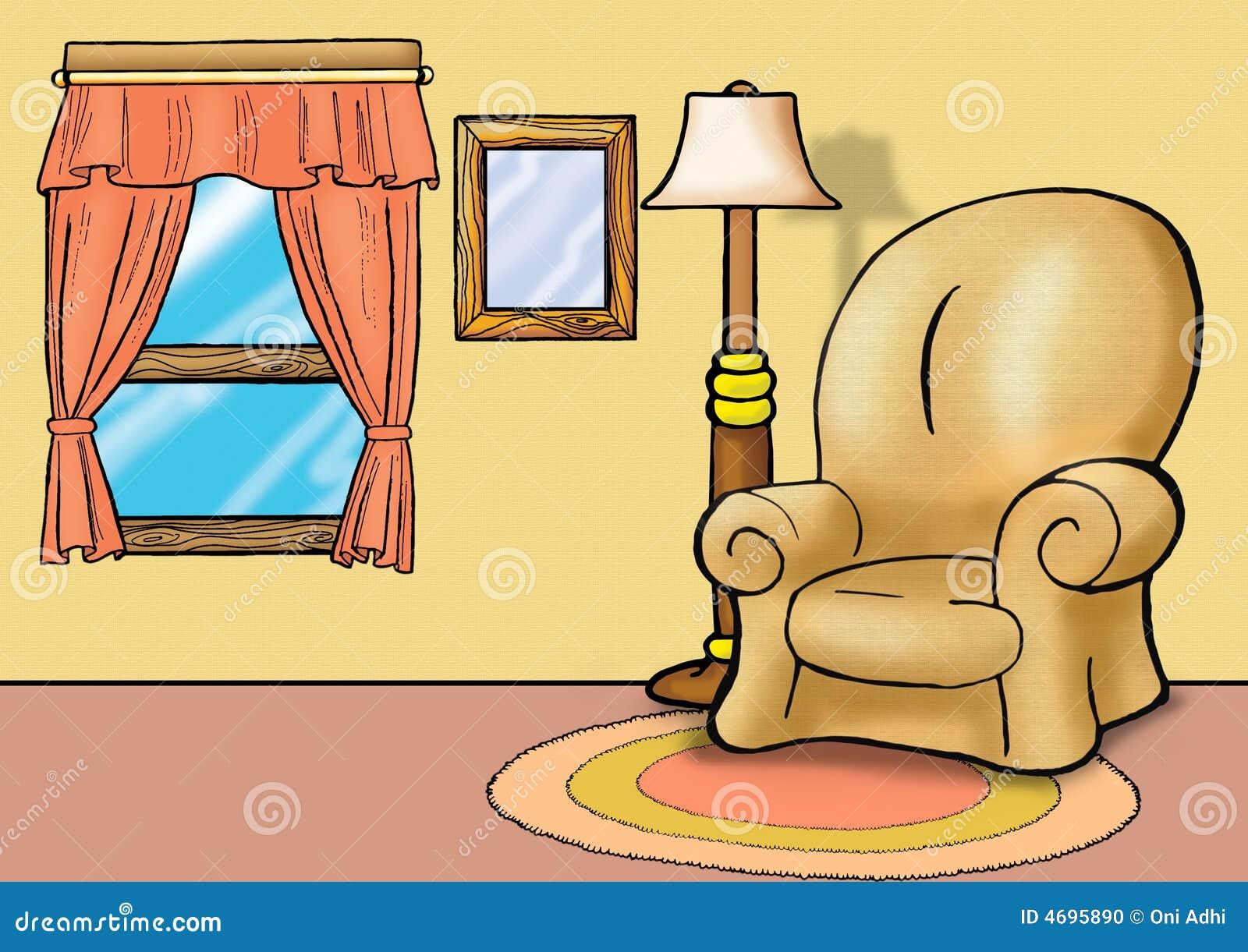 Sofa dans la salle de s jour illustration stock for La salle de sejour