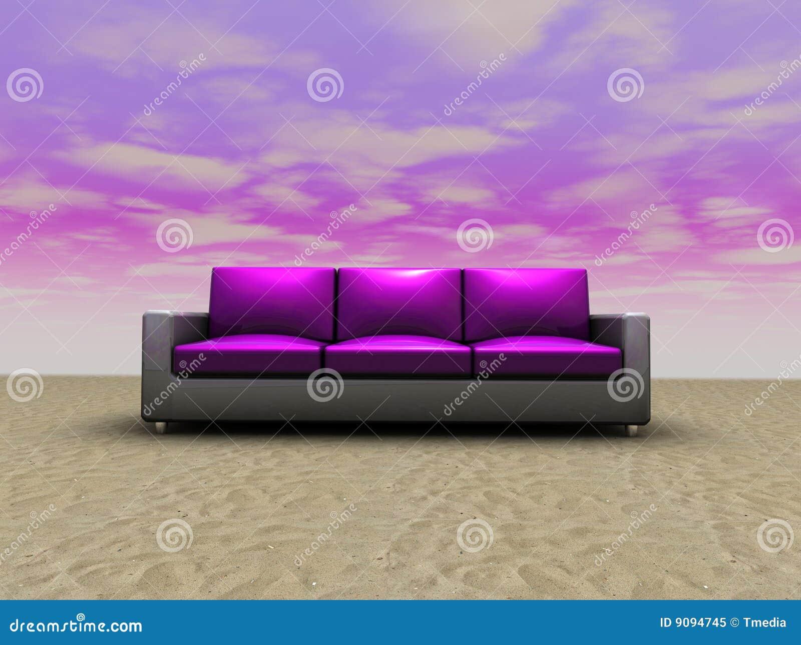 Sofa in der eindeutigen Installation