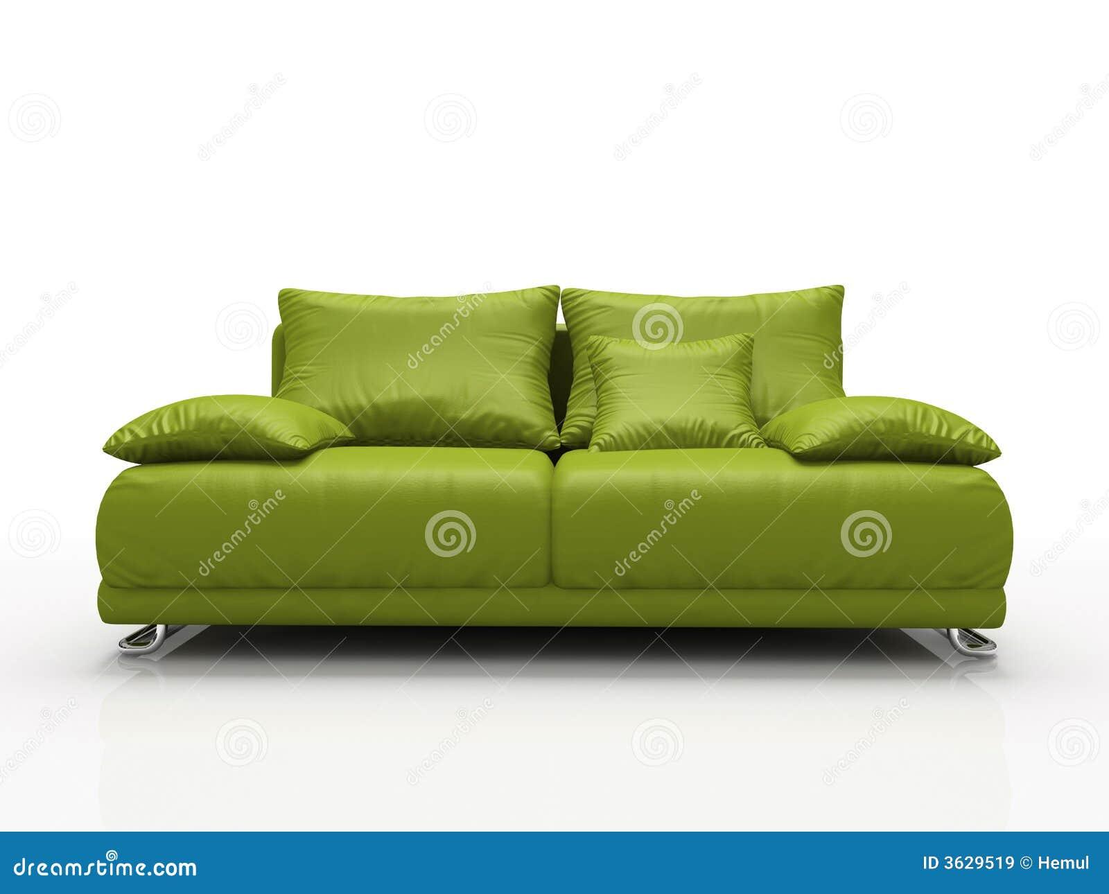 sofa en cuir vert images libres de droits image 3629519. Black Bedroom Furniture Sets. Home Design Ideas
