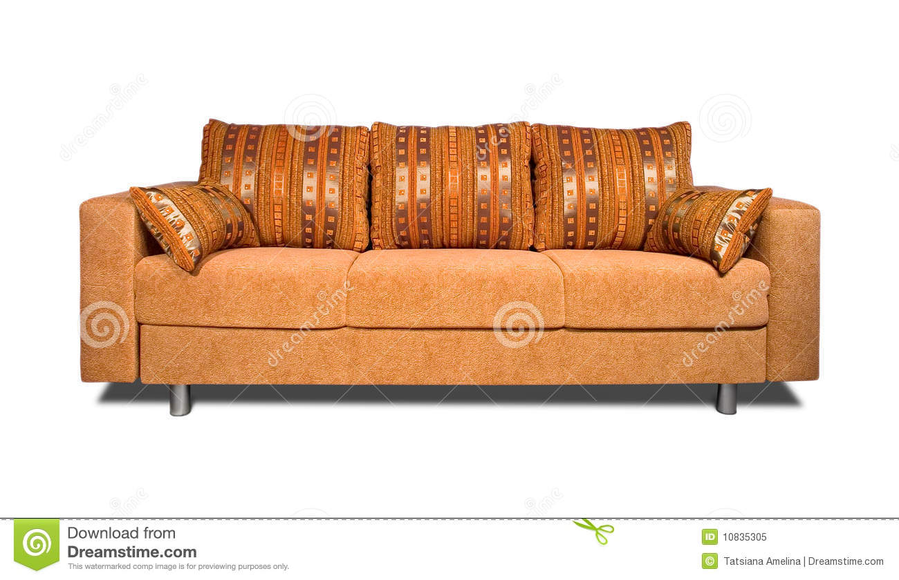 Sofa with fabric upholstery