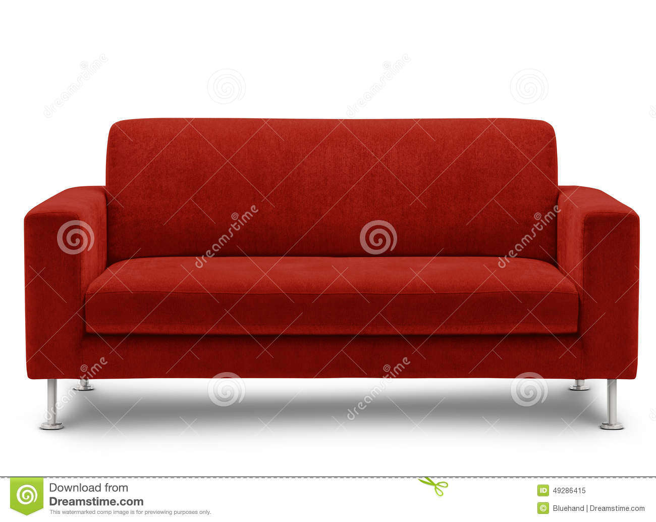 Sofa furniture isolated on white background stock photo for Red white sofa