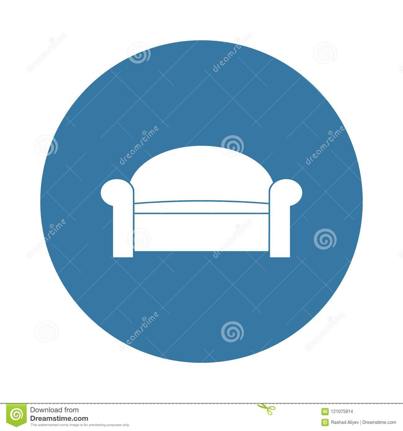 Sofa Icon Element Of Furniture Icons For Mobile Concept And Web Apps Badge Style