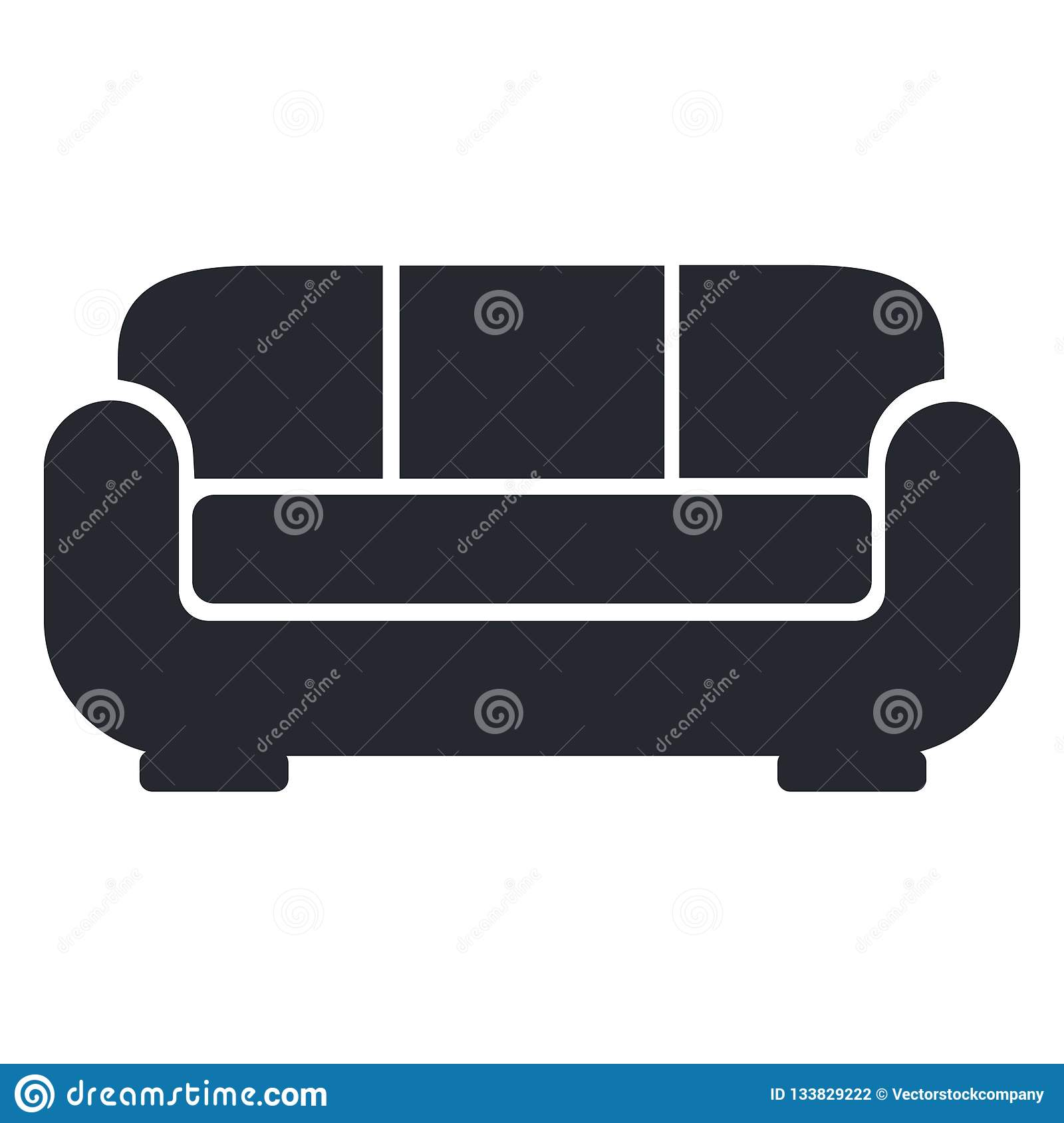 Sofa Icon Vector Sign And Symbol Isolated On White Background S
