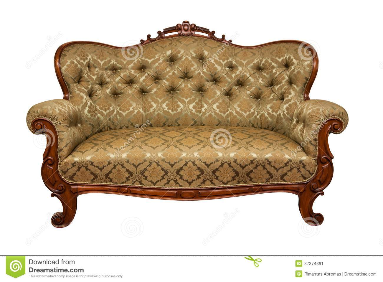 Sofa isolated stock image image 37374361 Antique loveseat styles