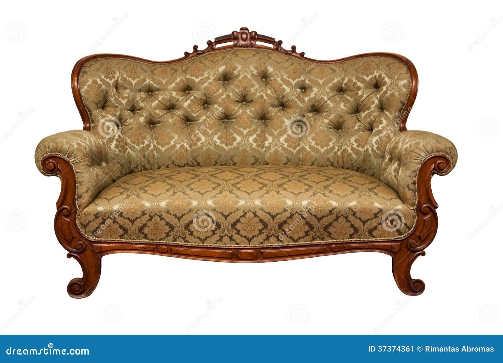 Sofa isolated stock image image 37374361 Antique loveseat styles