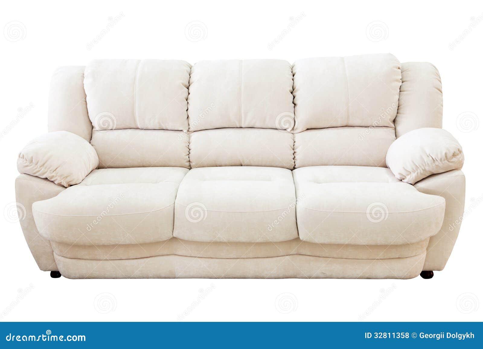Sofa Isolated On White Background Royalty Free Stock