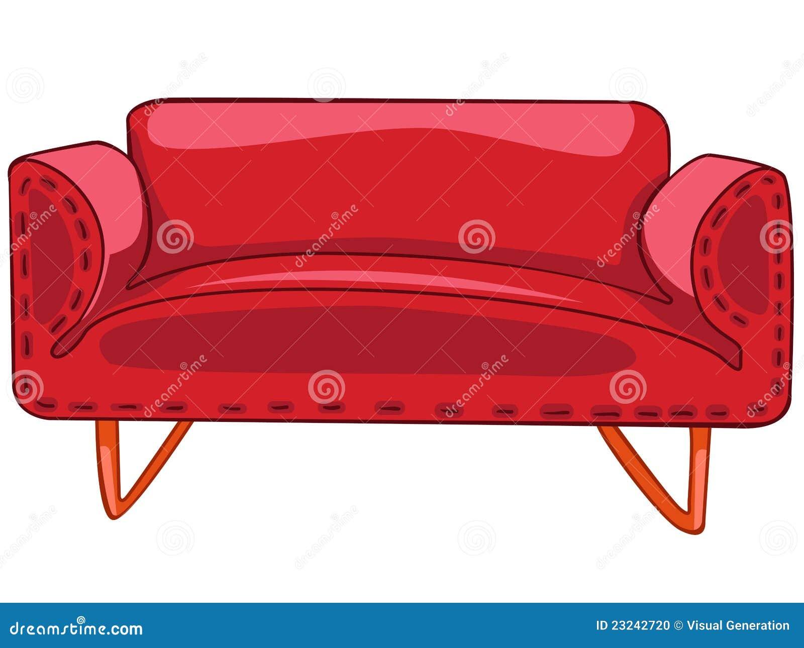 Sofa la maison de meubles de dessin anim photo stock for Maison des meubles