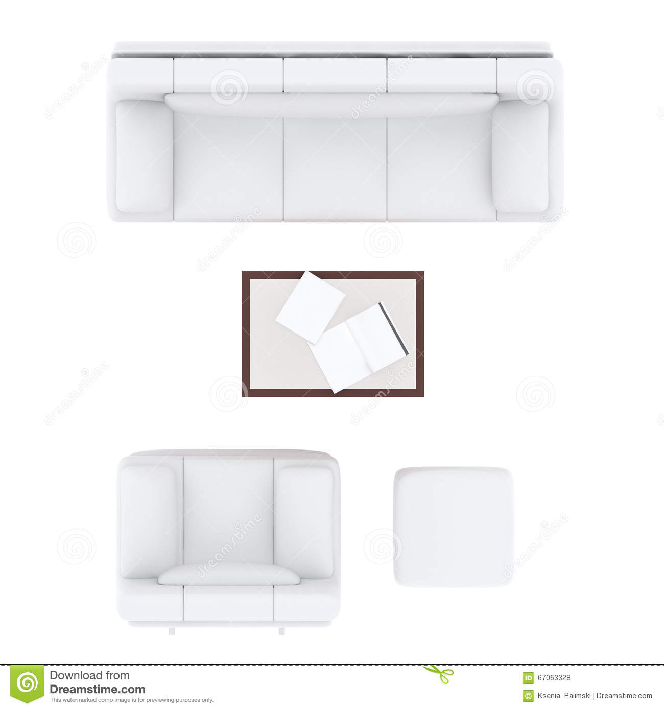 Sofa Living Room Set Stock Illustration Image 67063328