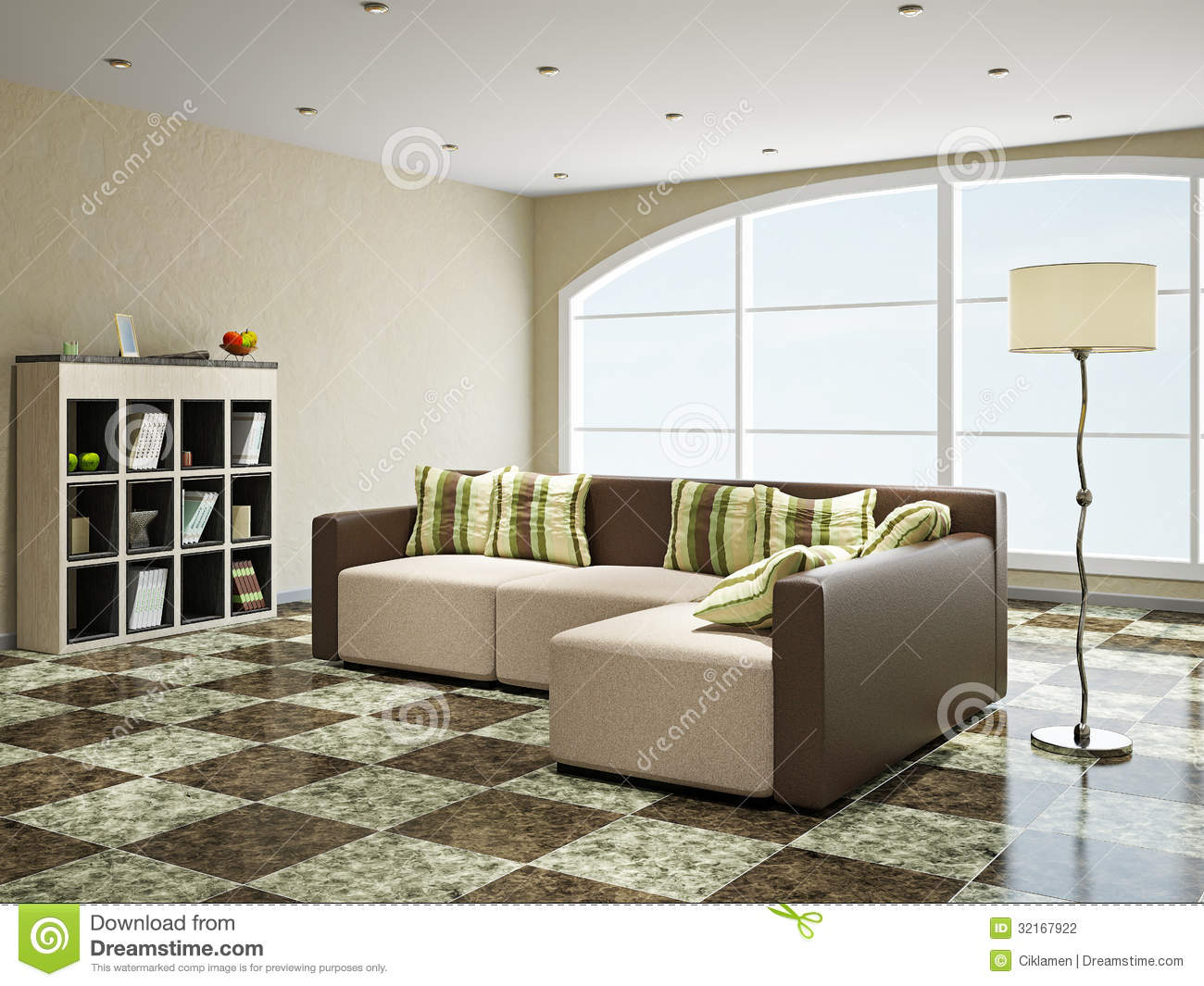 Sofa Near The Window Stock Illustration Illustration Of Light