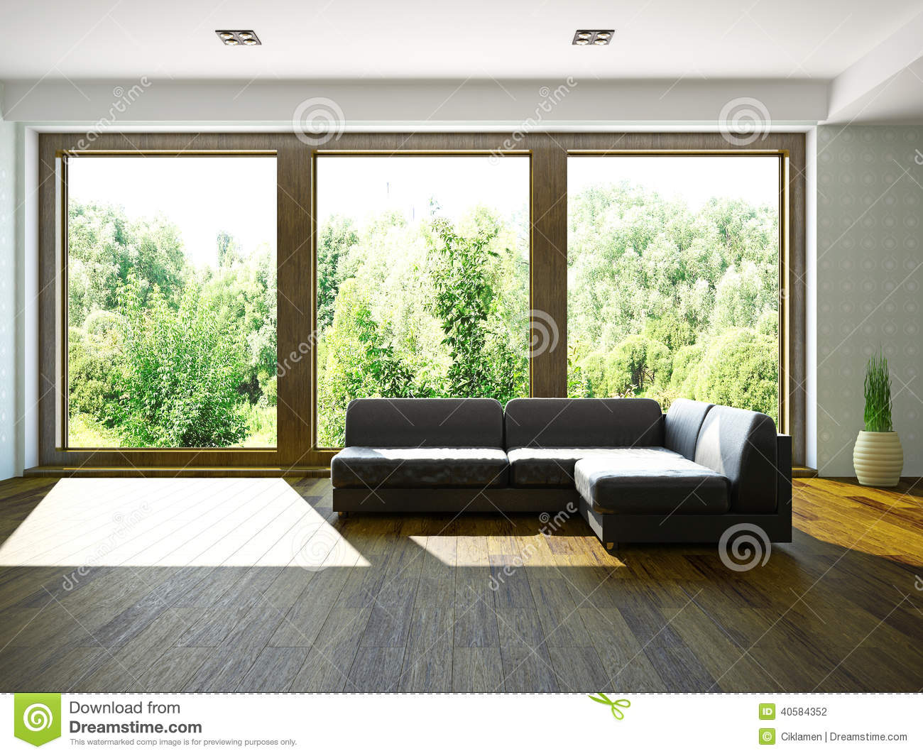 Sofa Near The Window Stock Illustration Illustration Of Background