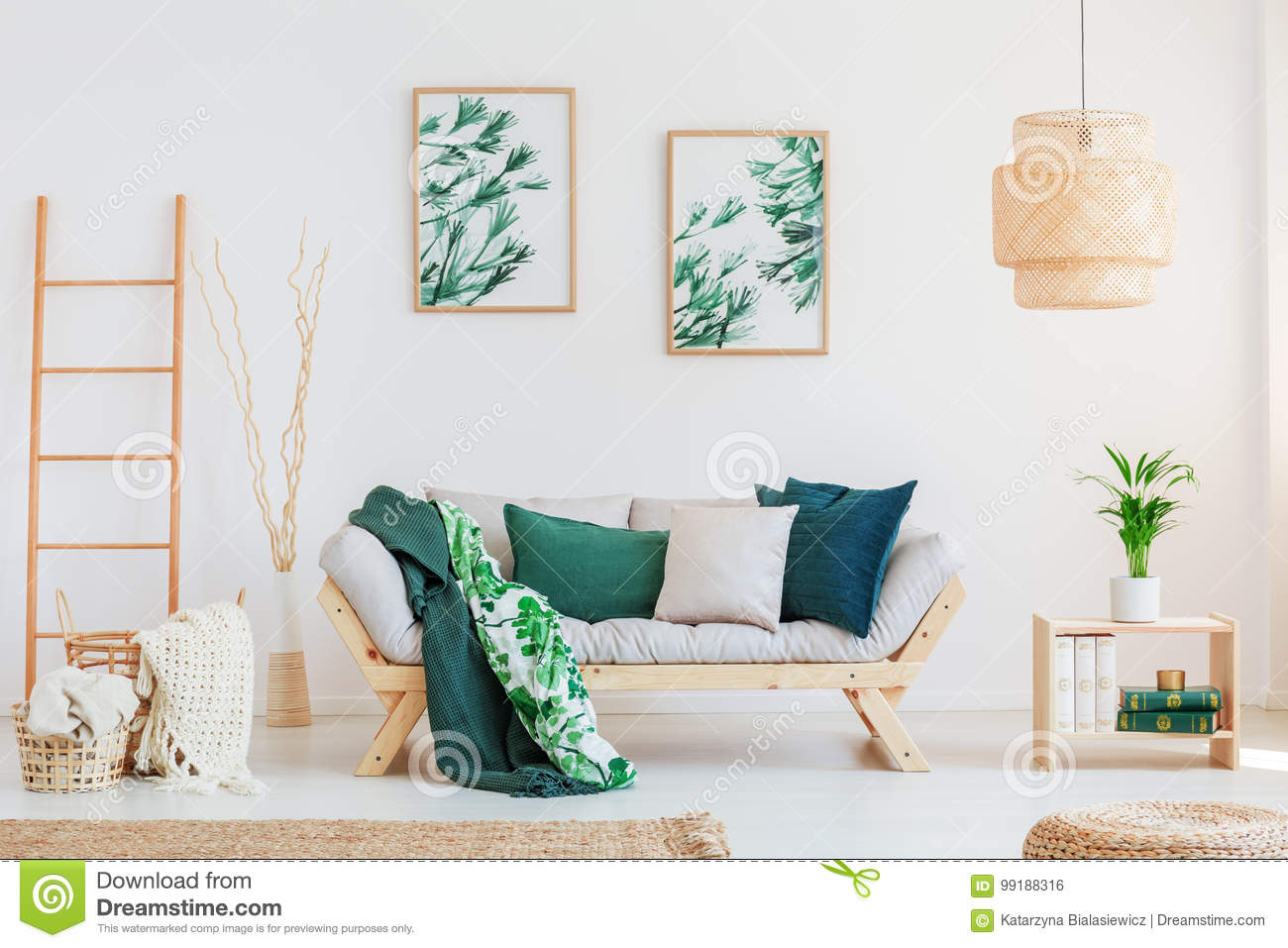 Sofa in neutral living room