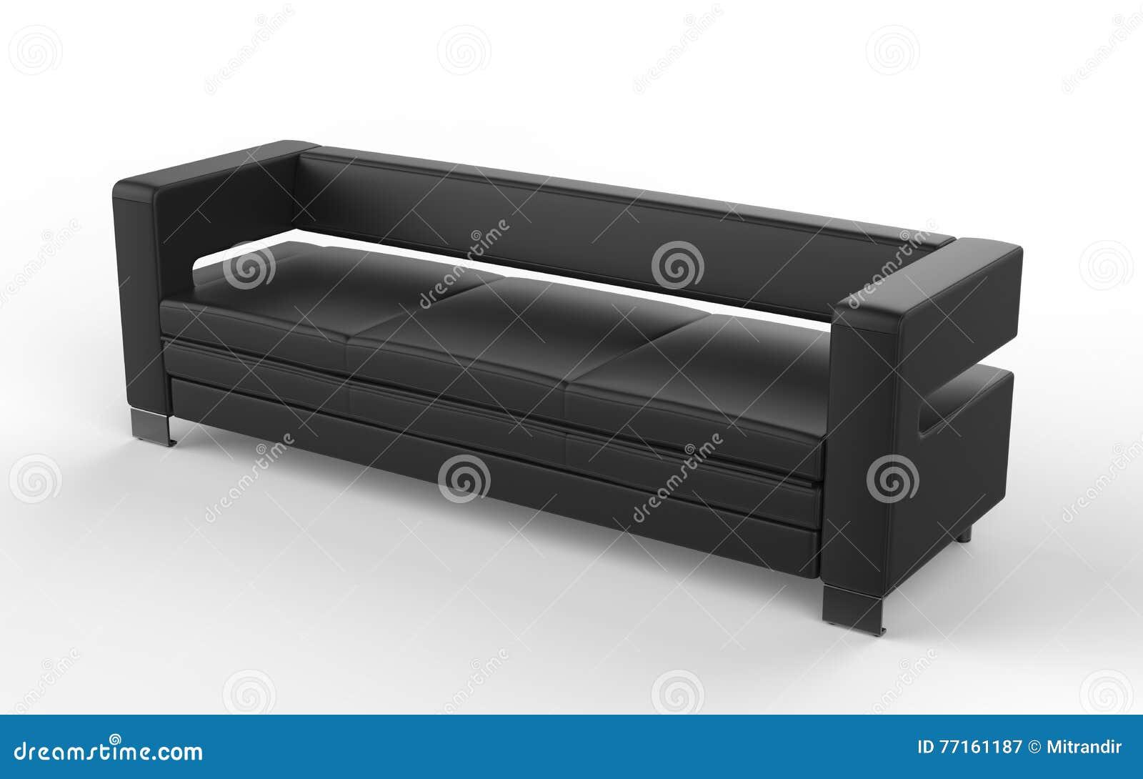 Sofa noir de style contemporain