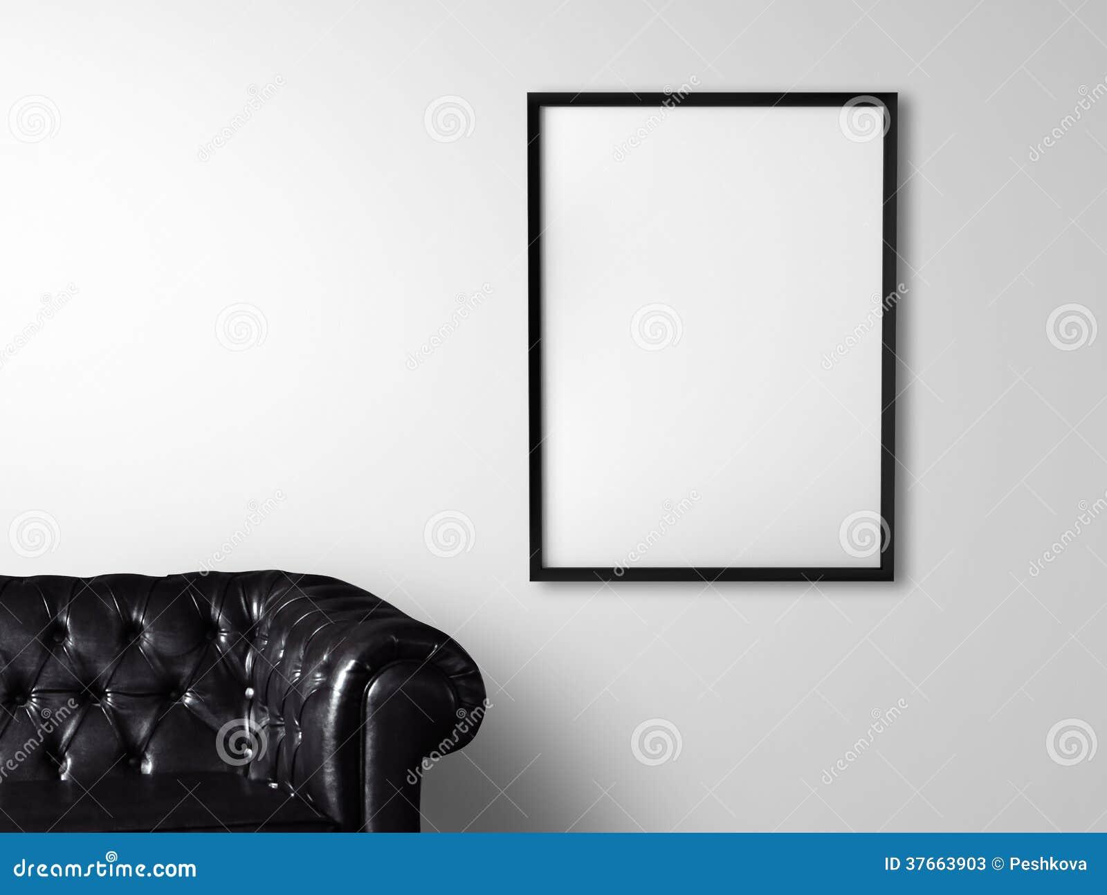 Sofa And Poster Stock Photos Image 37663903