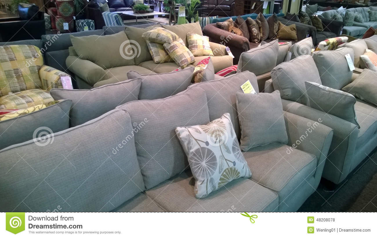 Sofa Selling At Furniture Store Editorial Stock Photo Image Of