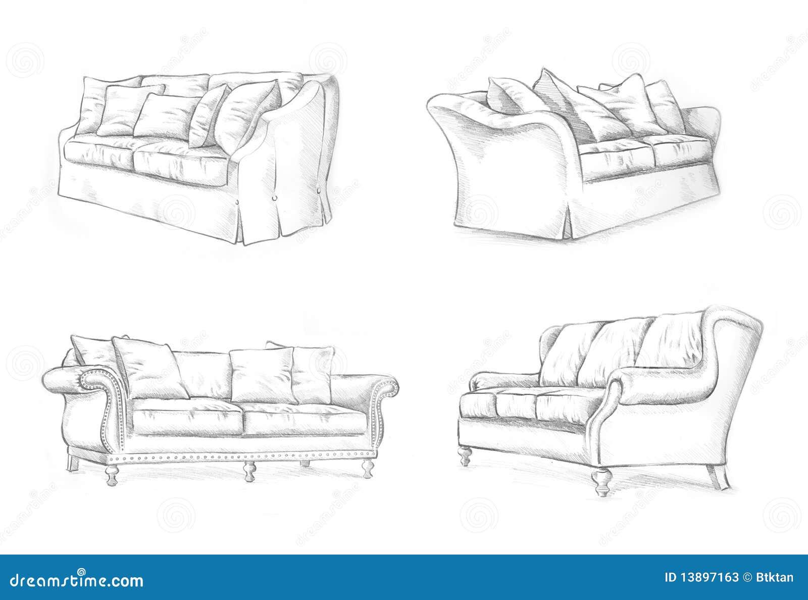 Sofa Sketching Stock Photos Image 13897163