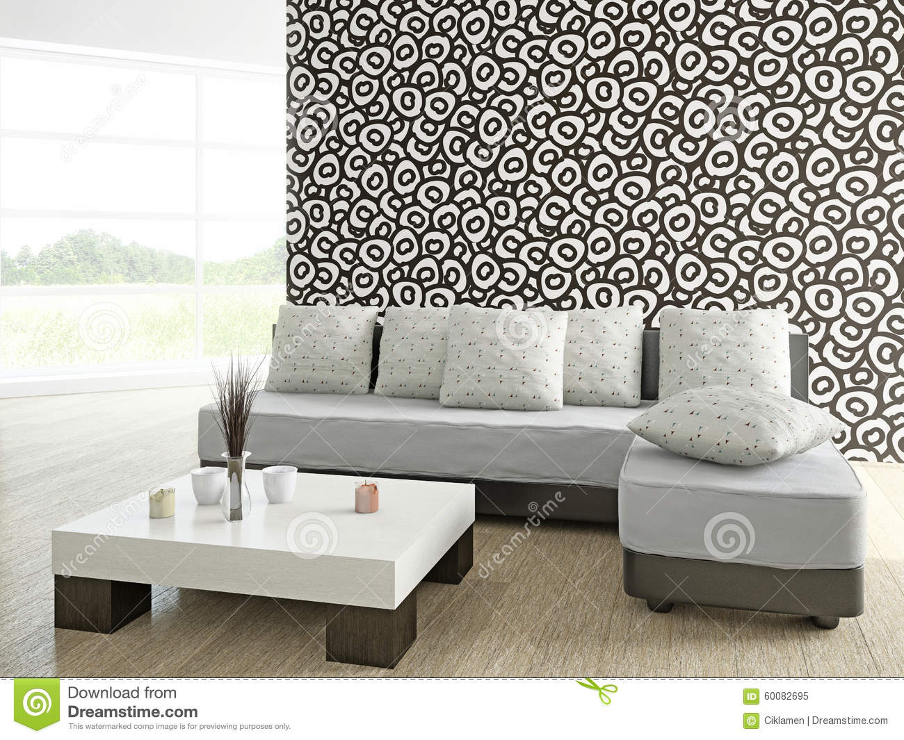 Sofa and table near the wall stock illustration image for Sofa table near me