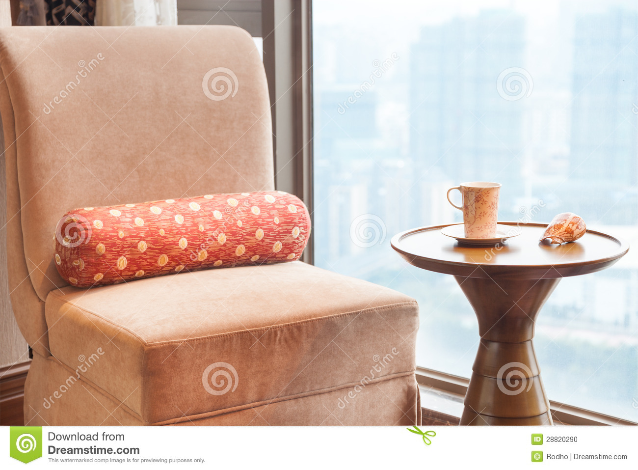 Sofa And Tea Table By The Window Stock Photo Image 28820290