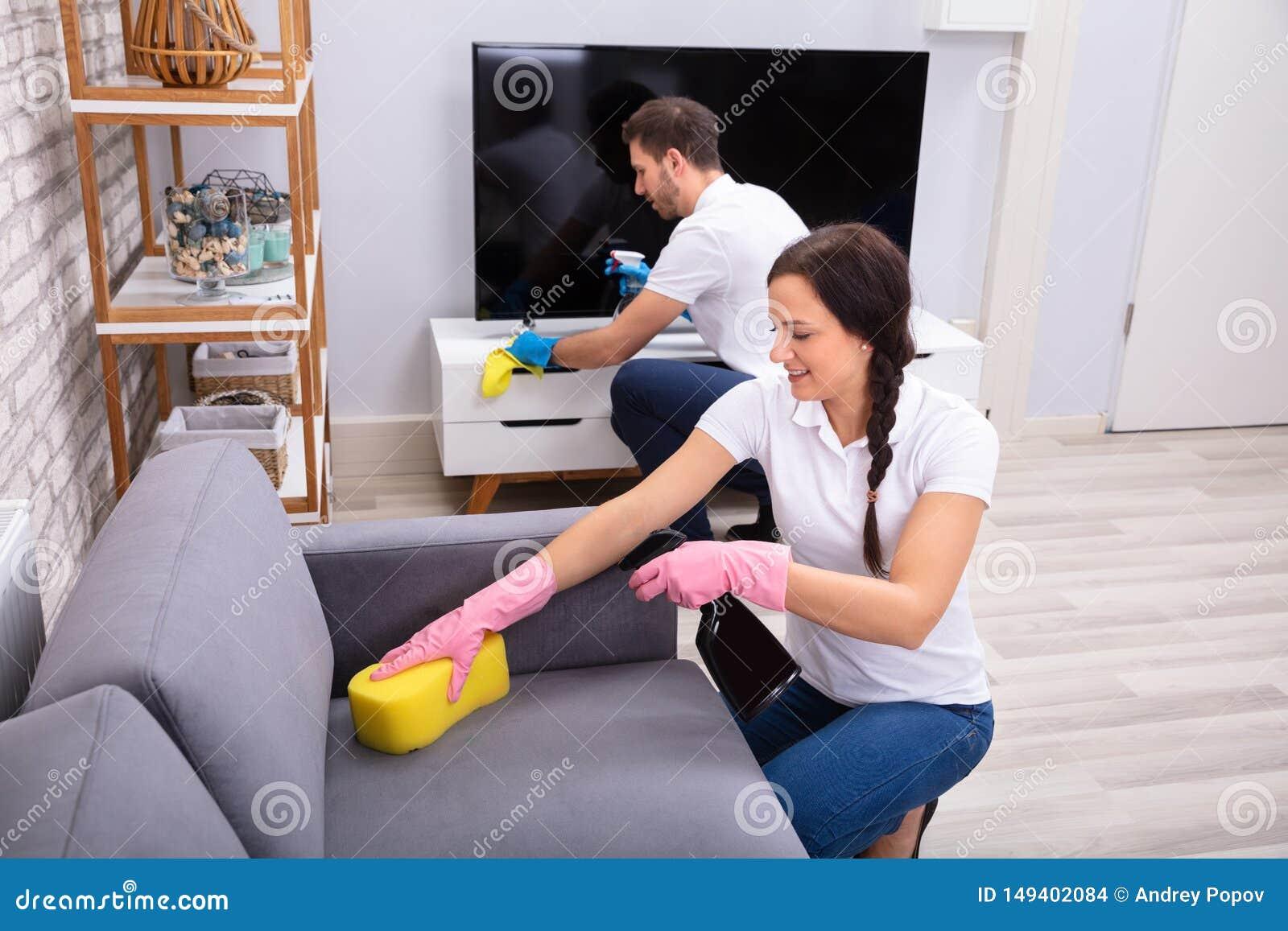 Sofa And Television de limpeza