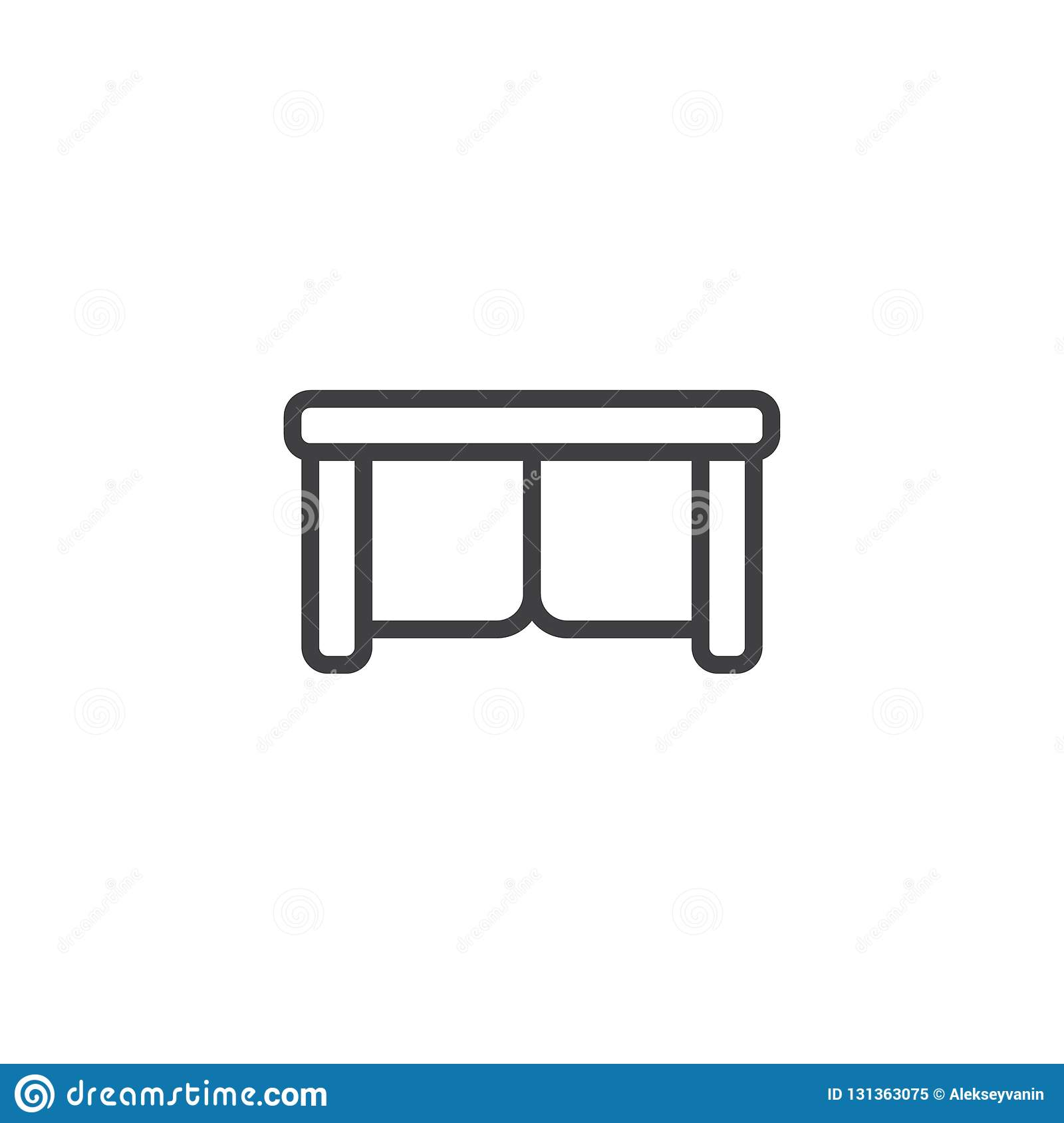 Sofa Top View Outline Icon Stock Vector Illustration Of Couch