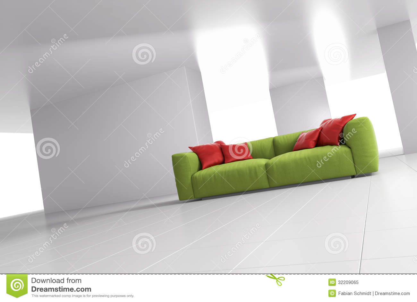 Sofa vert dans la chambre lumineuse angulaire photo libre de droits image 32209065 for La chambre verte truffaut download