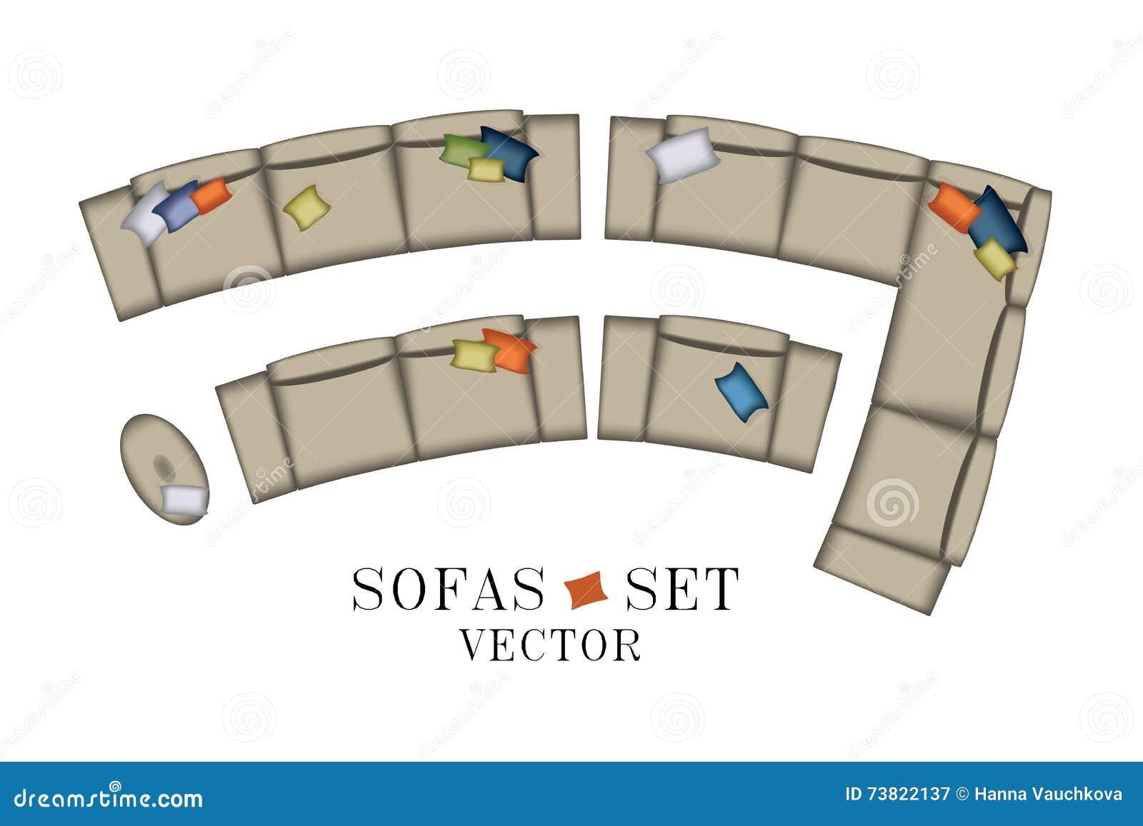 Creative Furniture Icons Set Flat Design Download Set Of Furniture