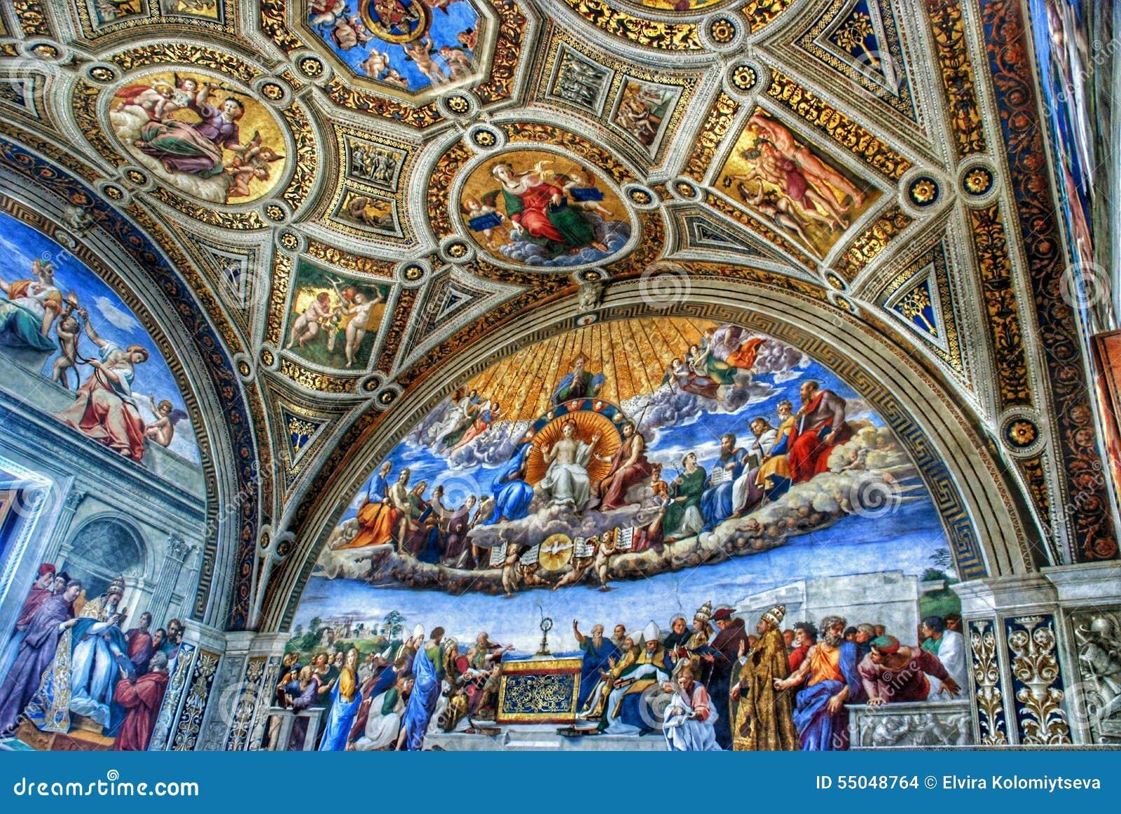 Museo Del Vaticano.Soffitto Del Museo Del Vaticano Immagine Stock Editoriale Immagine