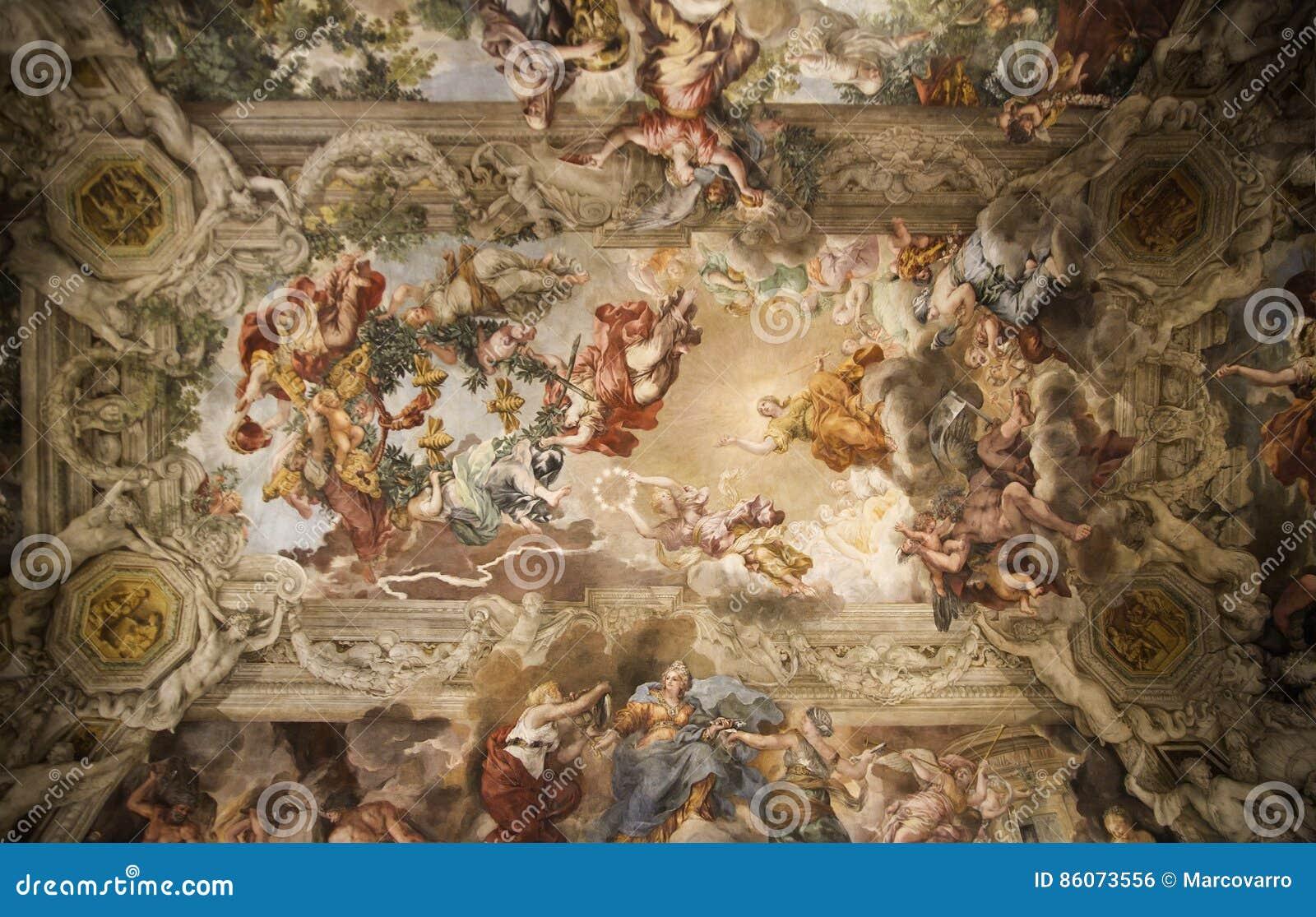Soffitto Del Salone Del Palazzo Barberini Fotografia Editoriale - Immagine: 86073556