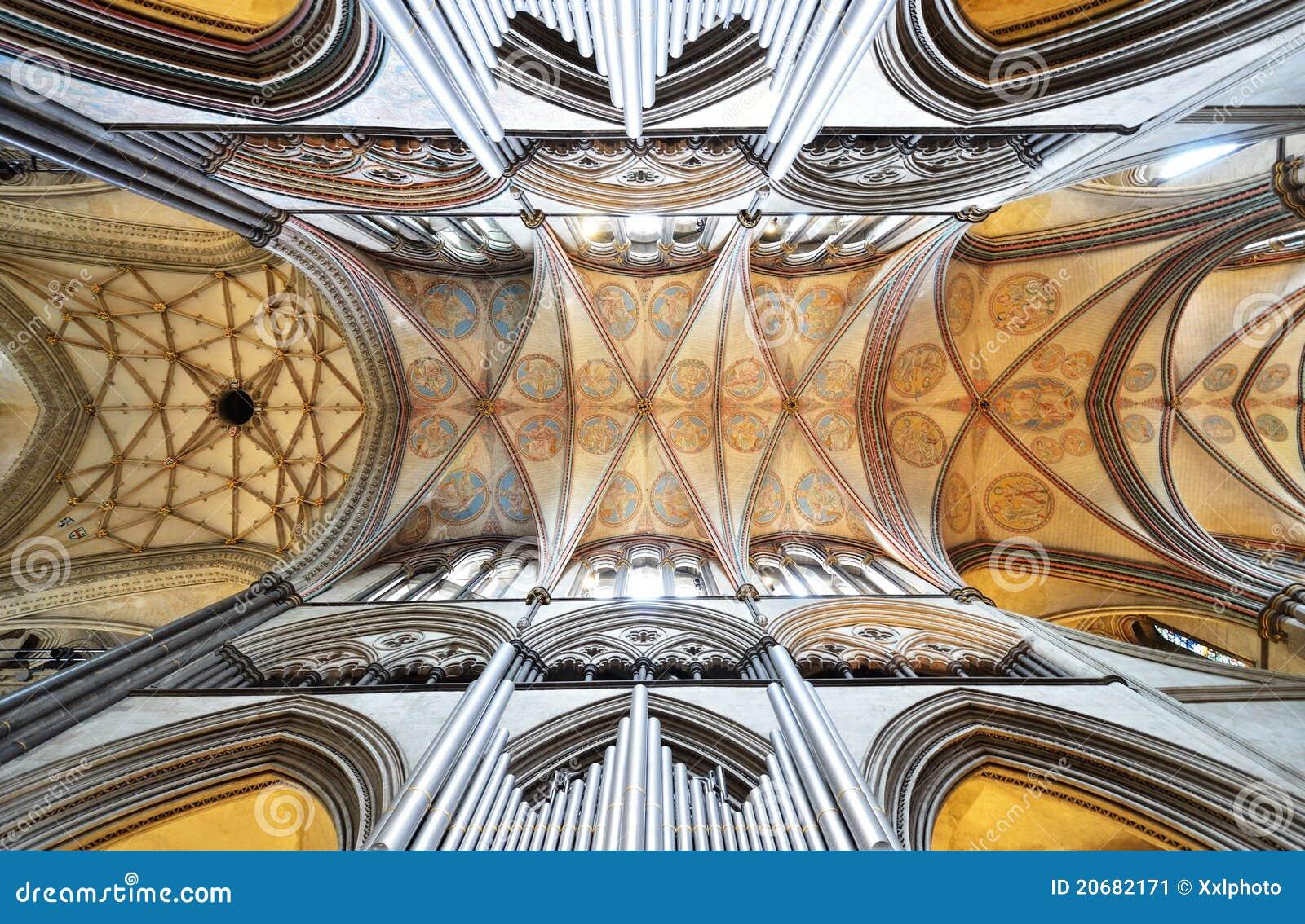 Soffitto della cattedrale di salisbury immagine stock for Soffitto della cattedrale di legno