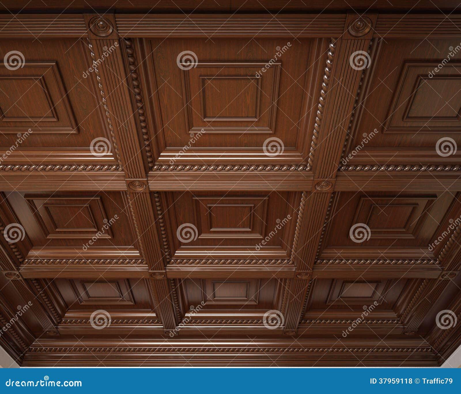 soffitto di legno classico del cassone fotografie stock libere da diritti immagine 37959118. Black Bedroom Furniture Sets. Home Design Ideas