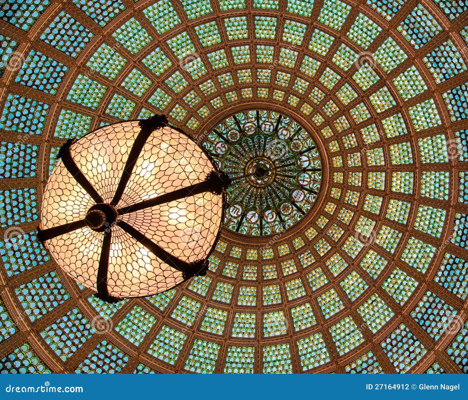 Soffitto di vetro della cupola di Tiffany