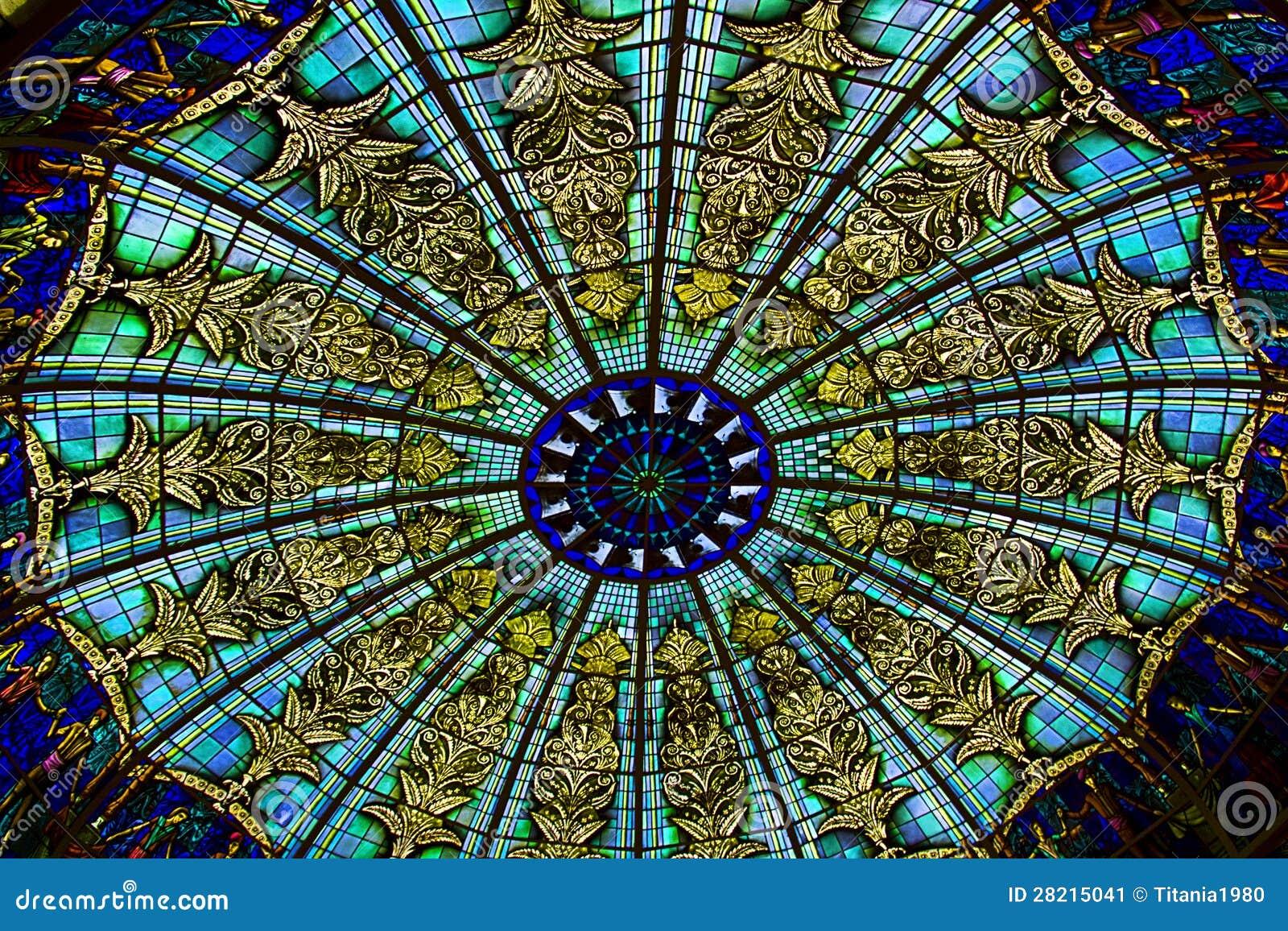 Soffitto Di Vetro Dentro Un Palazzo Immagine Stock - Immagine: 28215041