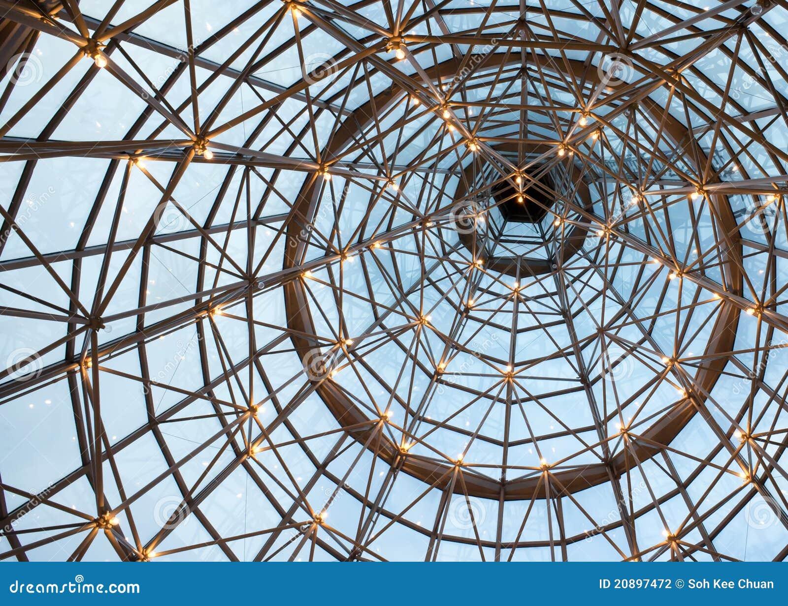 Soffitto Di Vetro Illuminato Del Fascio Fotografia Stock - Immagine: 20897472
