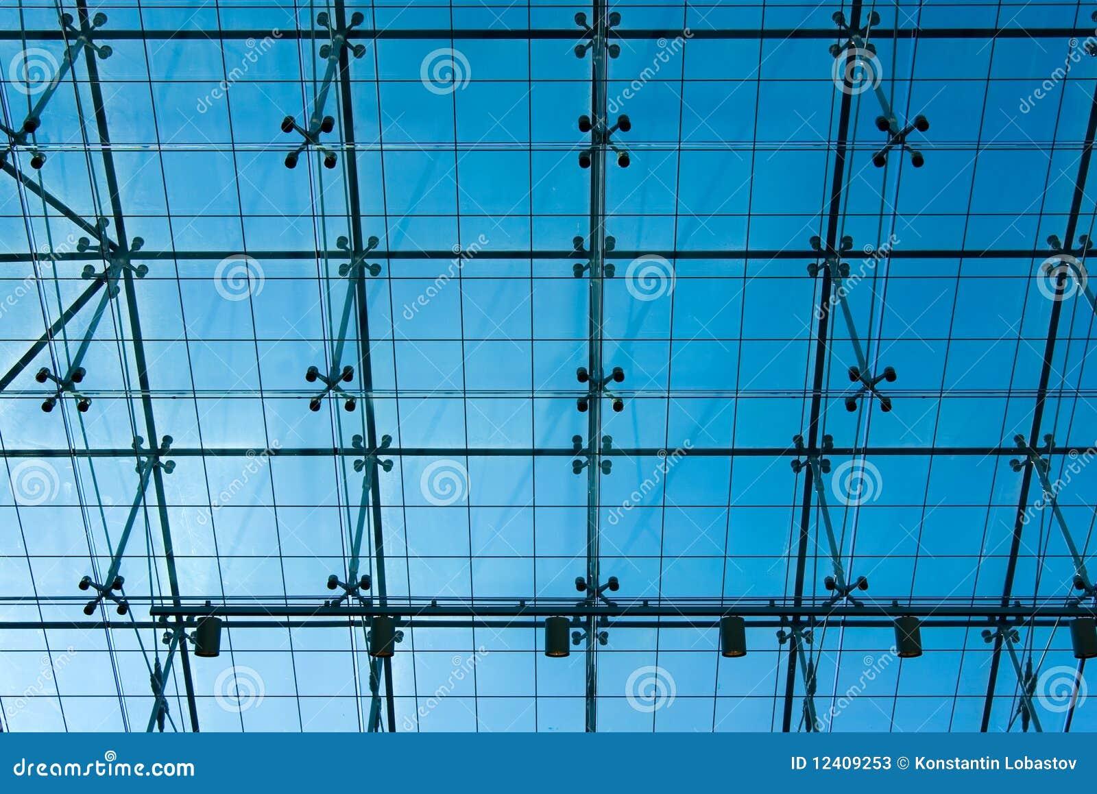 Soffitto di vetro trasparente del centro dellospite degli Stati Uniti ...