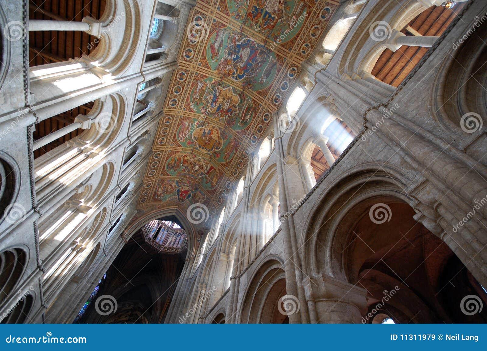 Soffitto interno della cattedrale di ely immagine stock for Soffitto della cattedrale di legno