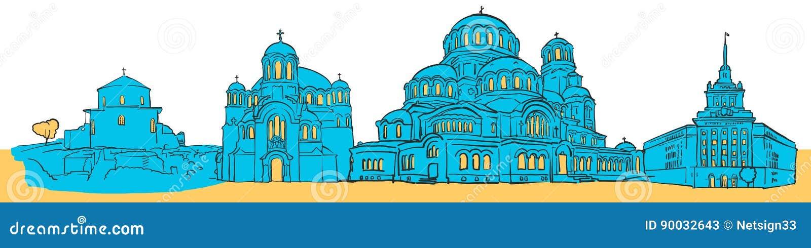 Sofia Bułgaria Barwiona panorama