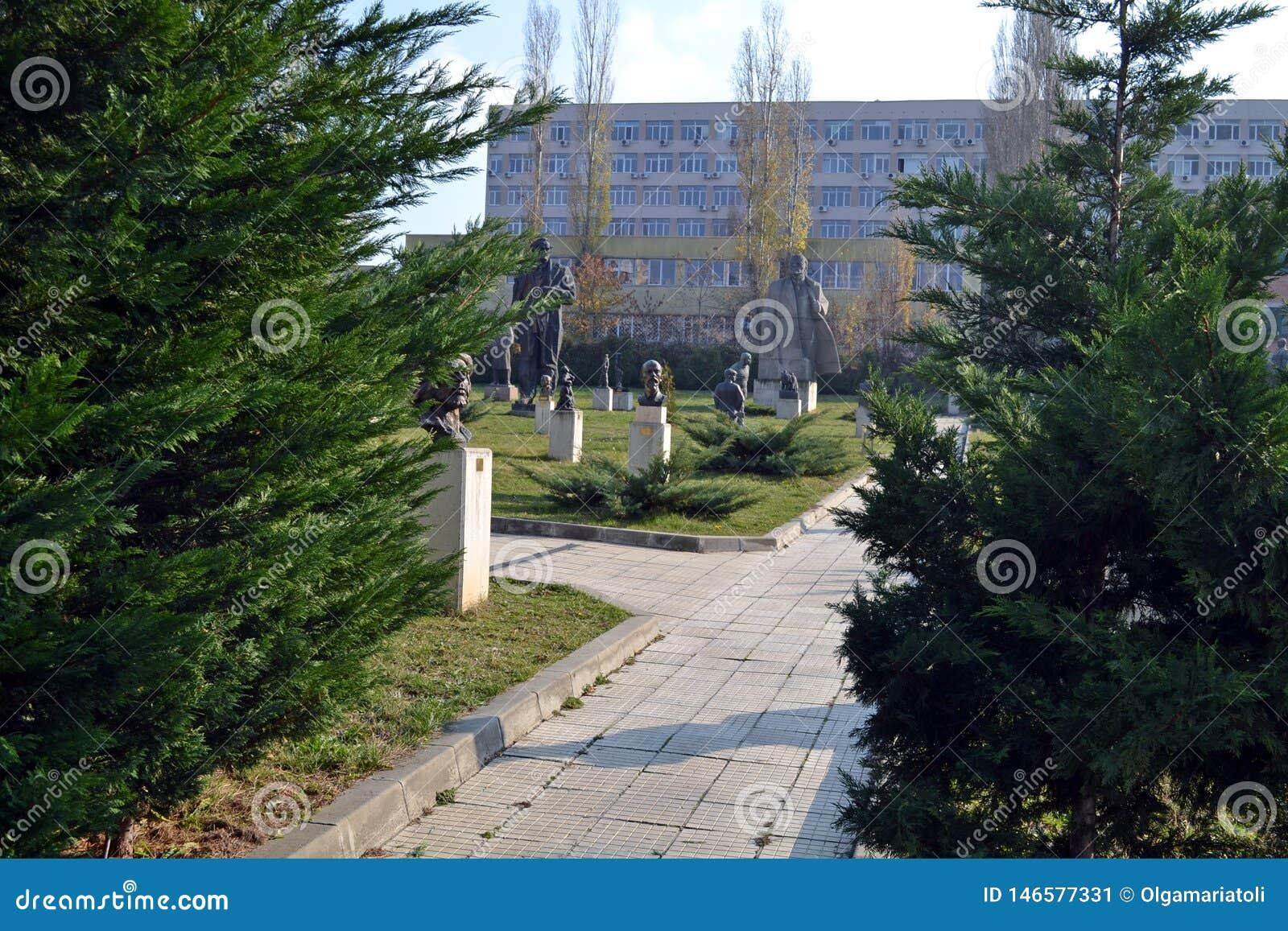 Sofia, Bułgaria, Listopad/- 2017: Wchodzić do muzeum Socjalistyczna sztuka