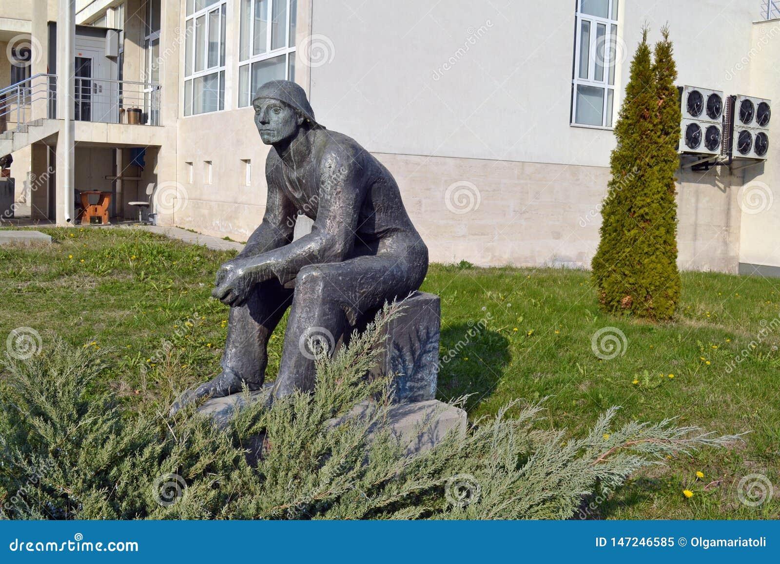 Sofia / Bulgaria - November 2017: Soviet-era statue in the museum of socialist art