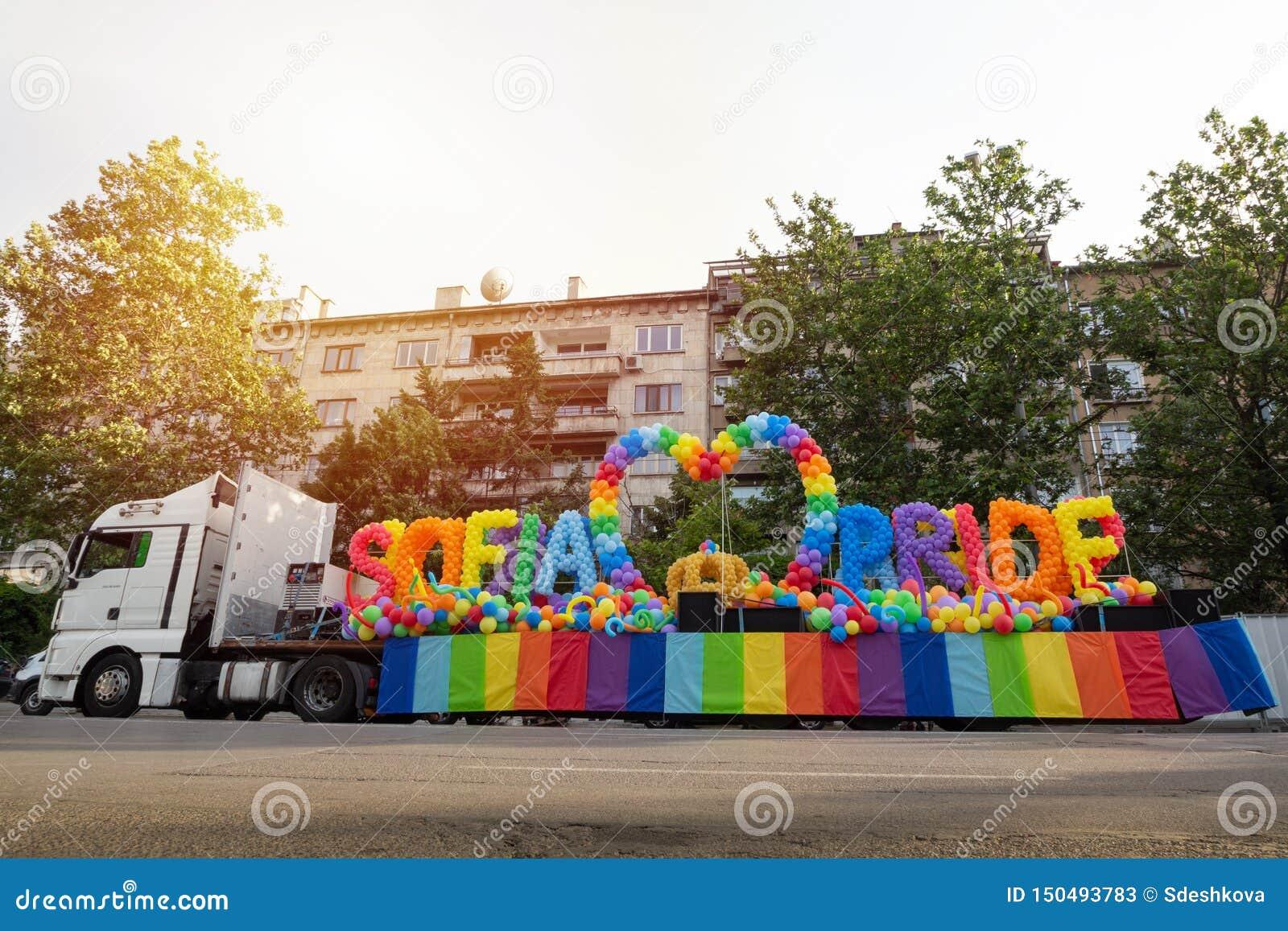Sofia Pride lastbil