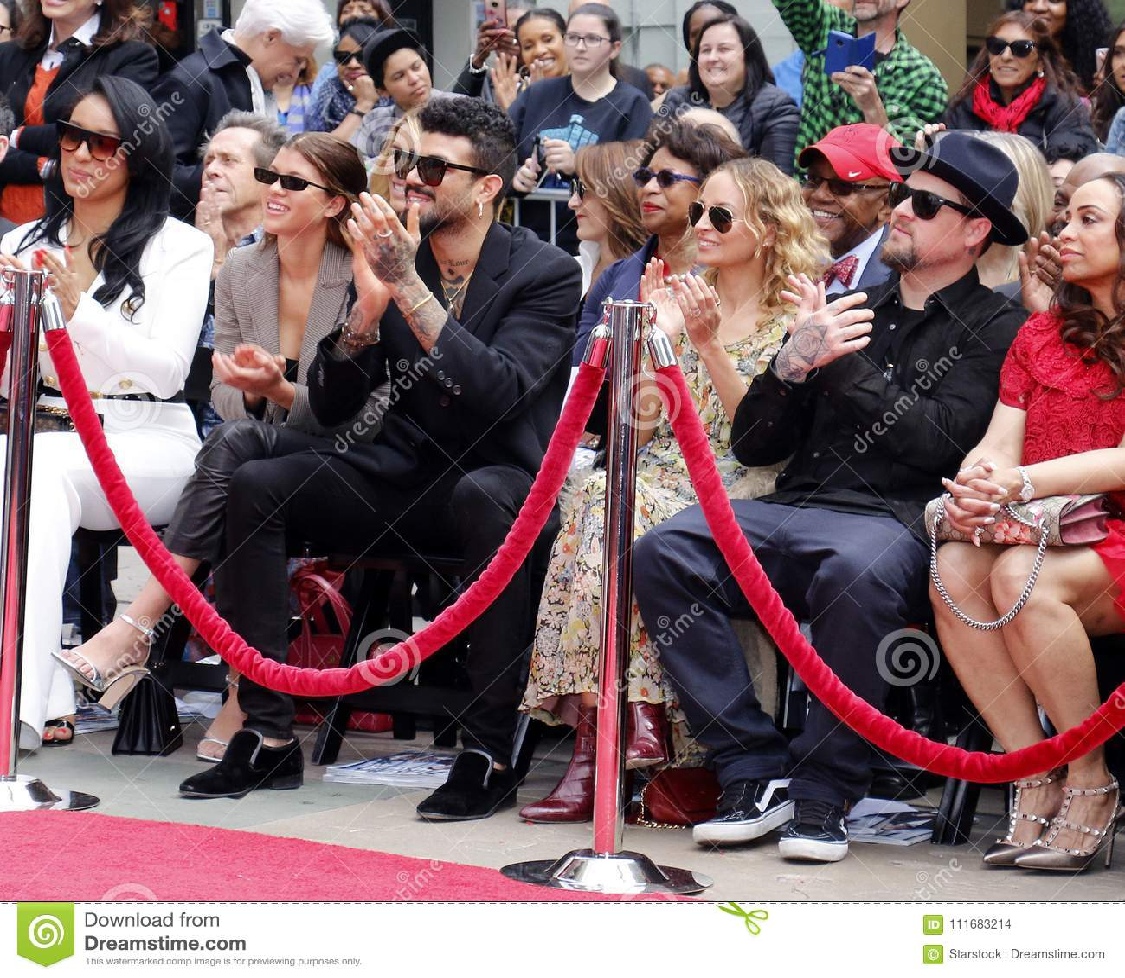 Sofia Richie, Miles Richie, Nicole Richie, Lisa Parigi y Benji Madden
