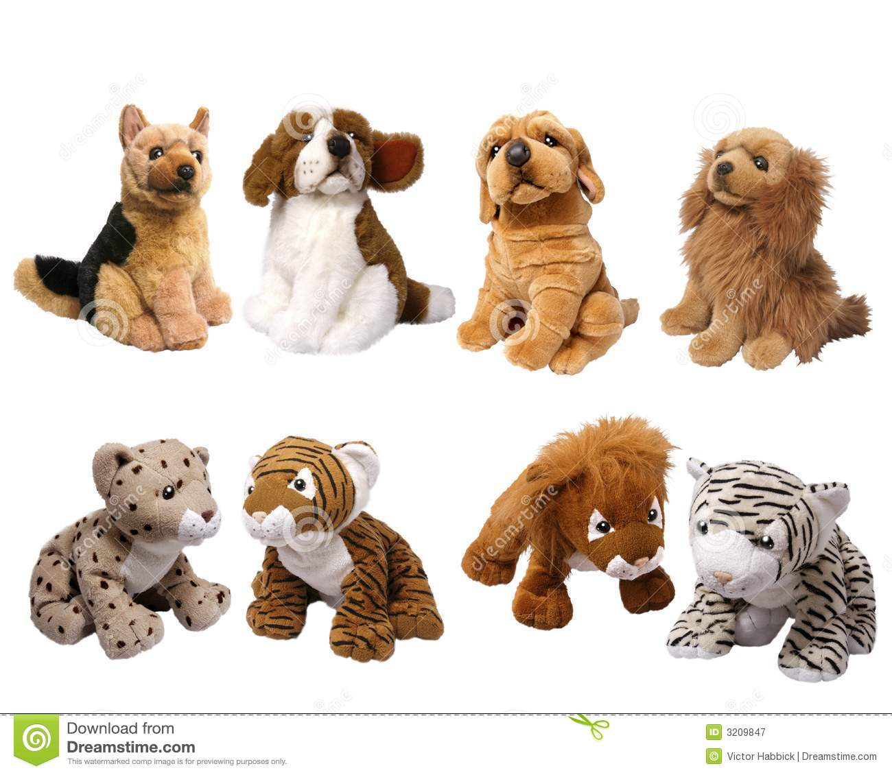 Soft Animal Toys Stock Image Image Of Spots Cute Shot