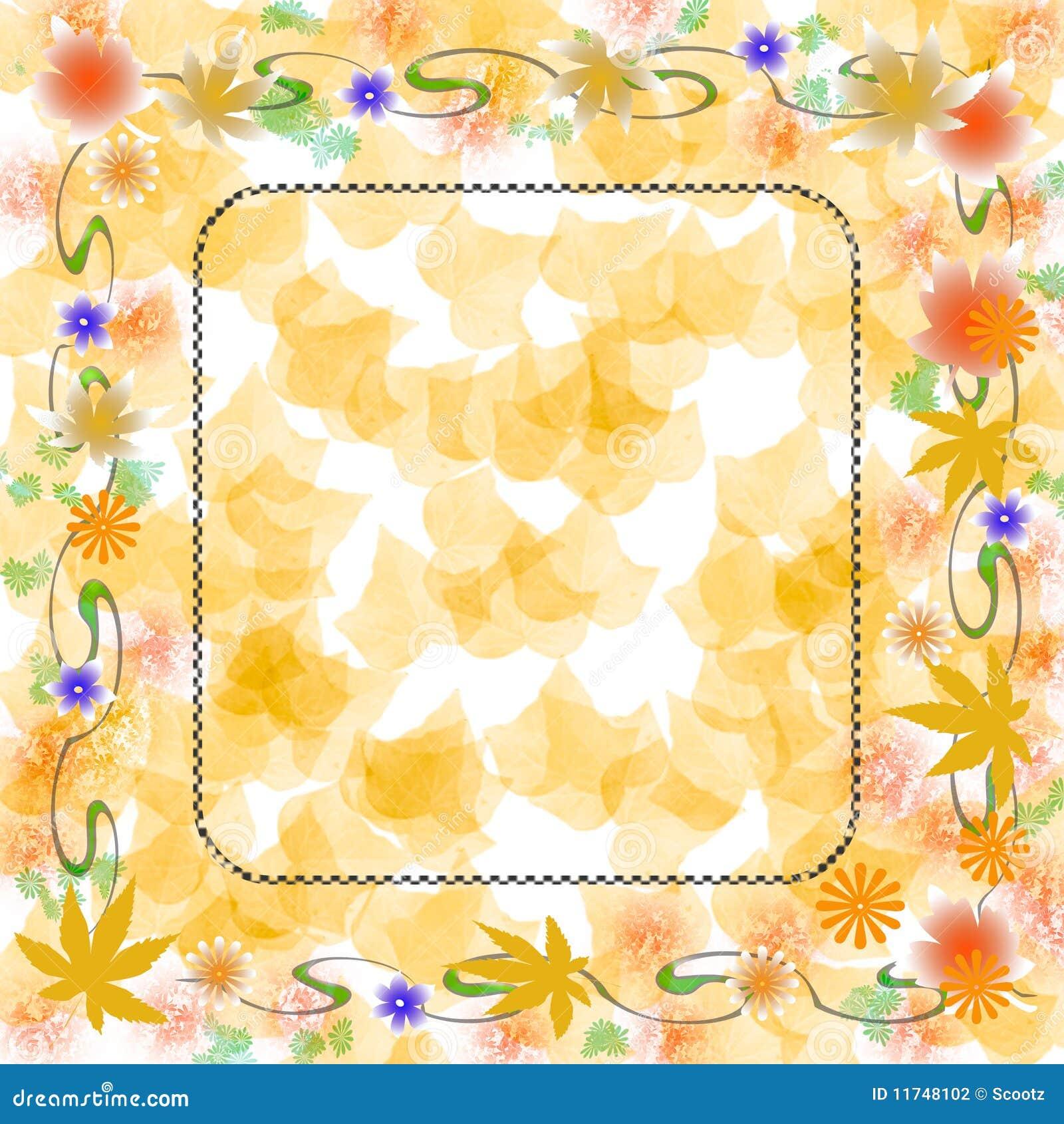 Soft Autumn Colors Scrapbook Stock Photography Image