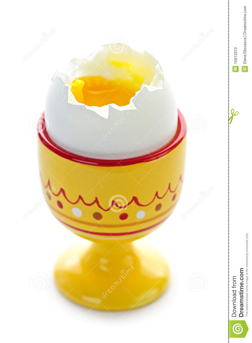 Soft Boiled Egg In Cup Stock Photo - Image: 15913310