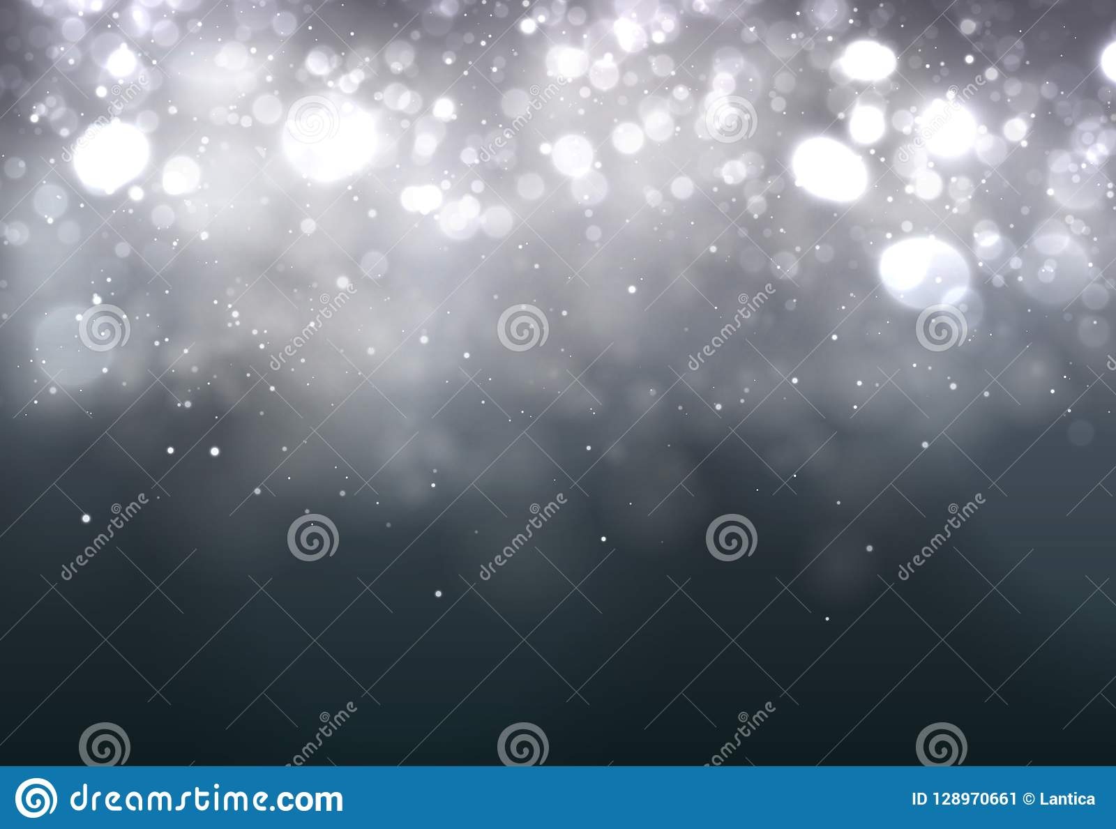 Soft bokeh dark abstract background. Festive Lights.