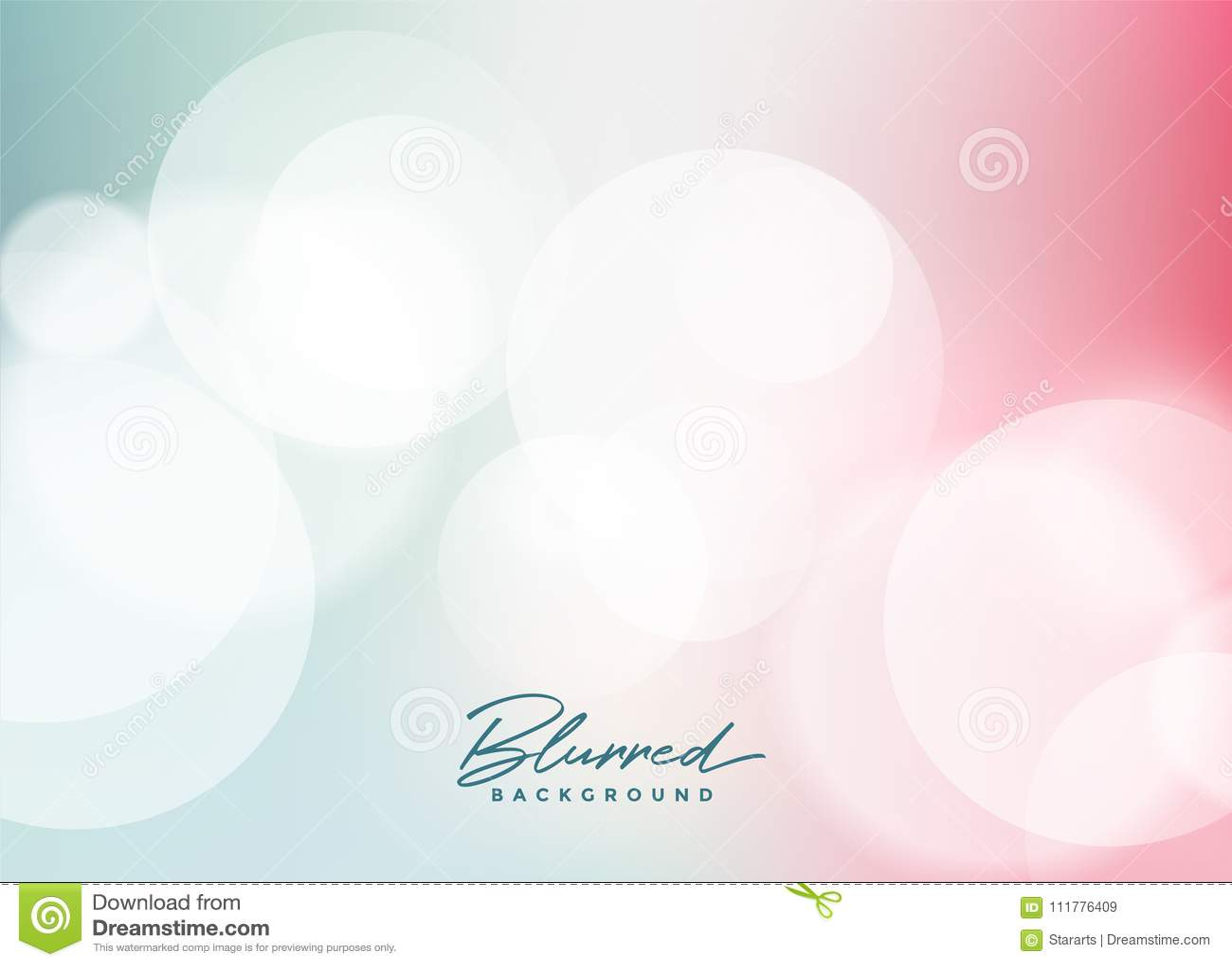Soft bokeh light effect background