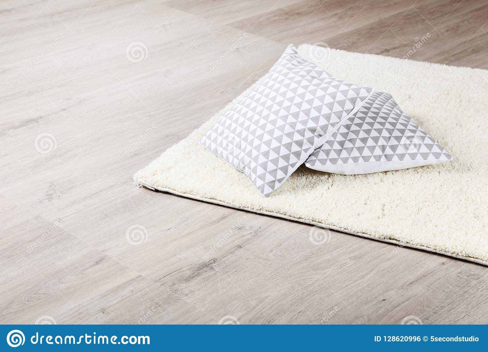 Soft carpet with pillows