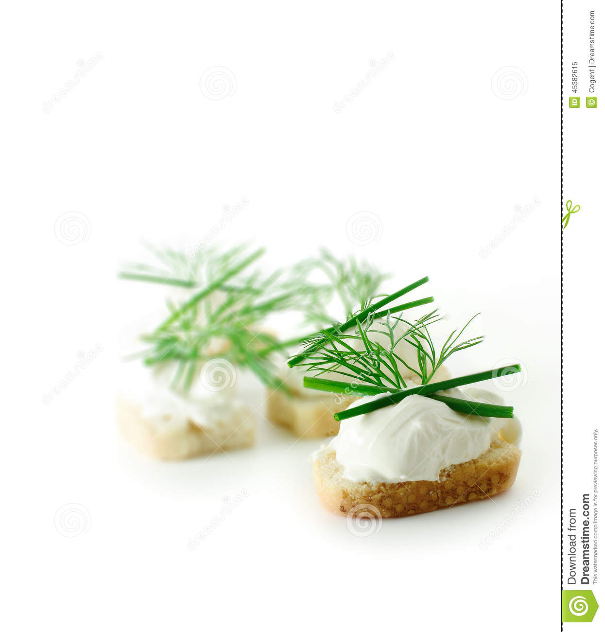 Soft cheese canapes stock photo image of fresh healthy for Canape garnishes