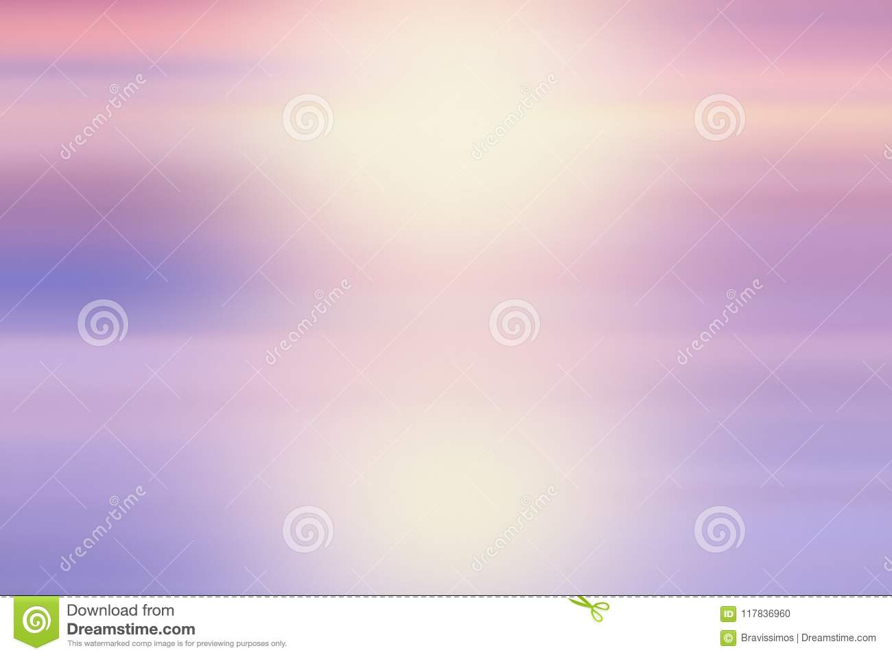 Soft Cloud Background With A Pastel Colored Orange To Blue