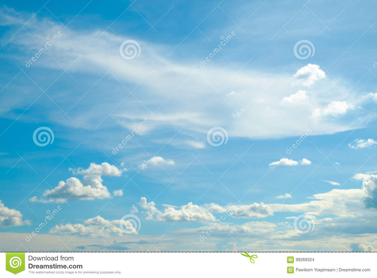 Soft cloud and sky for background